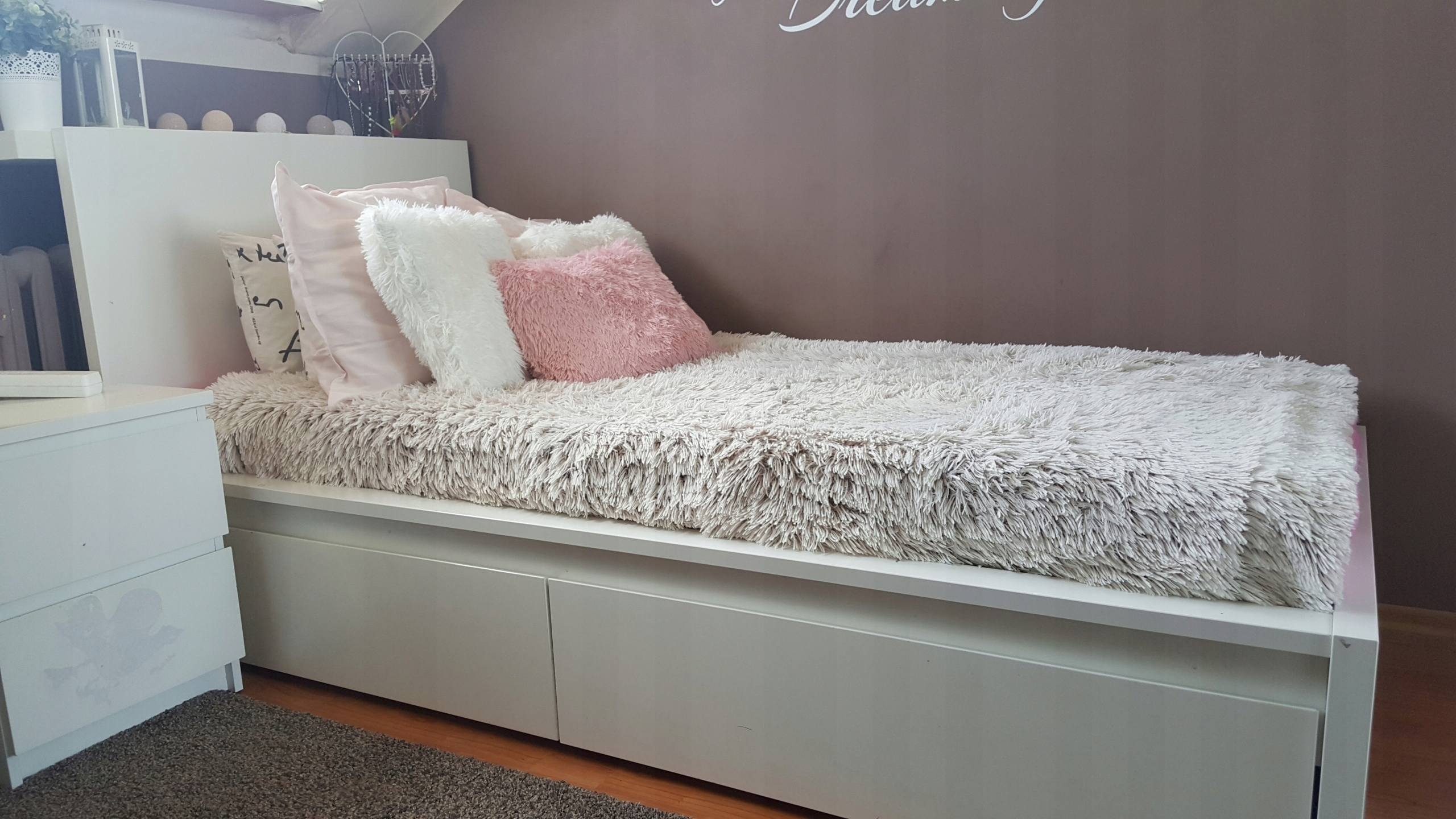 Ikea łóżko Malm 90x200 Rama Dno 2 Szuflady 7520807002