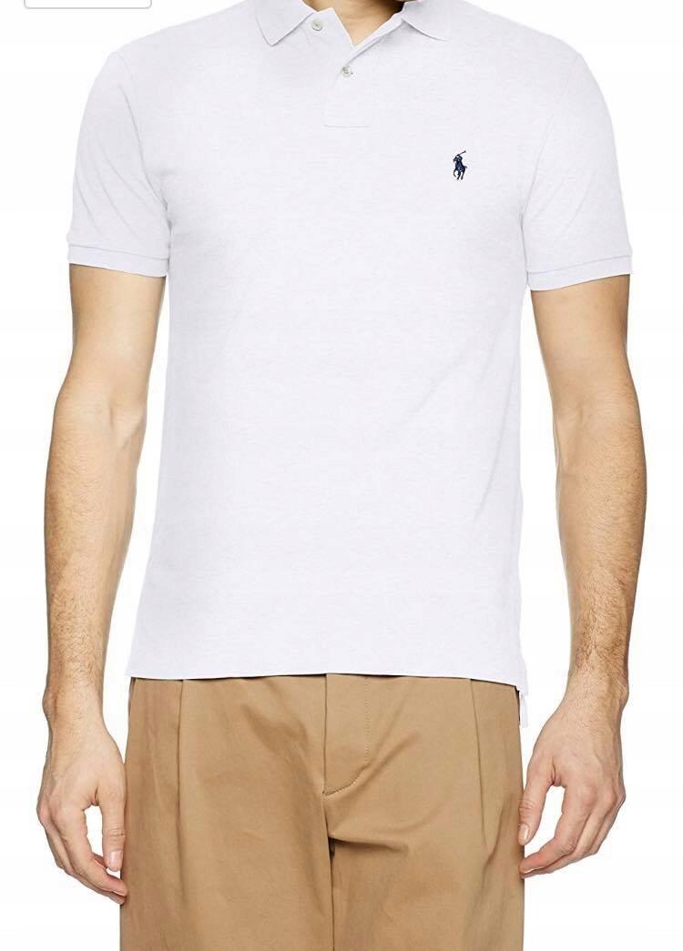 42eefc284 Koszulka męska Polo Ralph Lauren WHITE M - 7462352137 - oficjalne ...