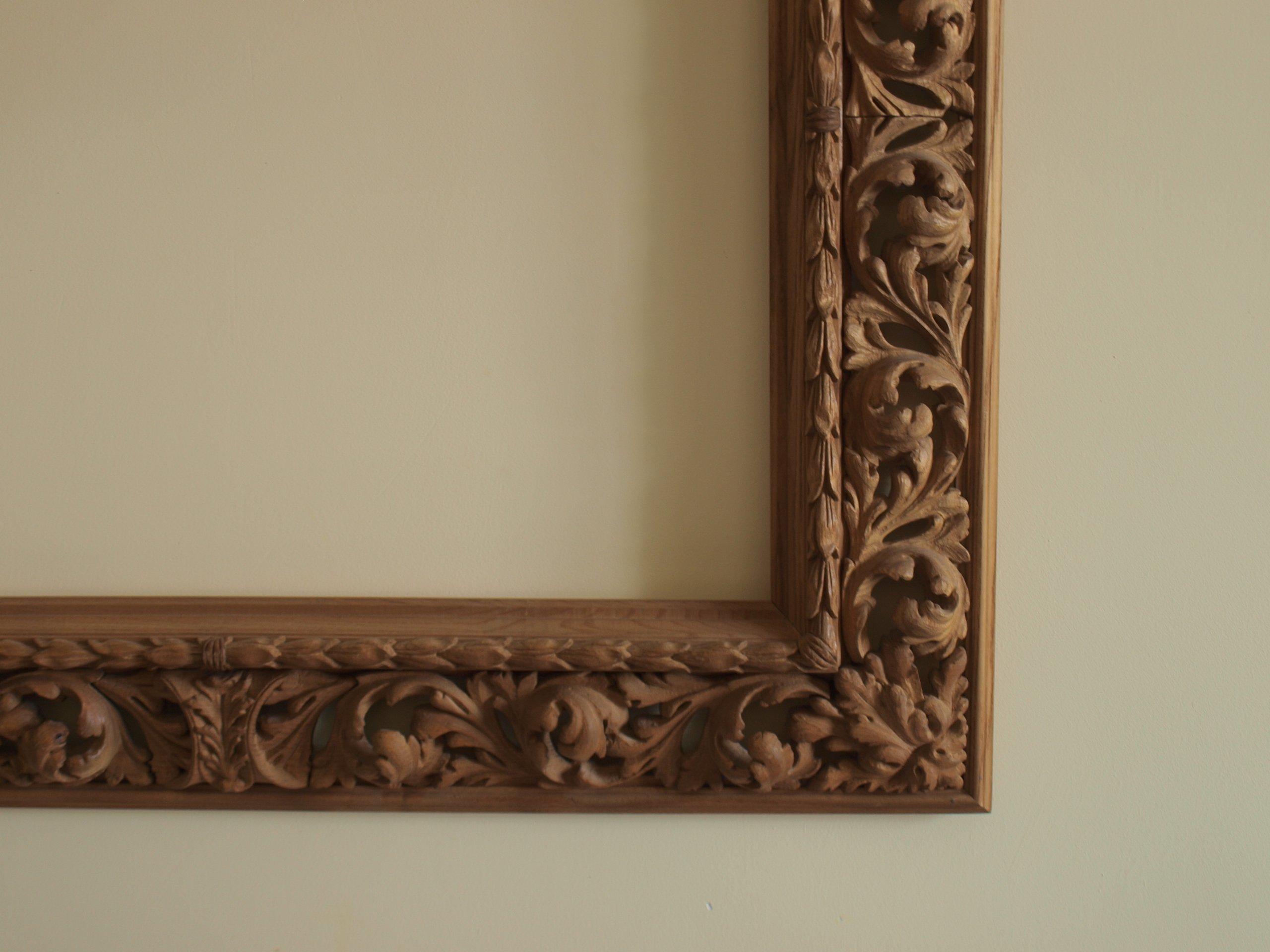 Tylko na zewnątrz Rama na obraz drewniana, bogato rzeźbiona - 7081691648 - oficjalne YO34