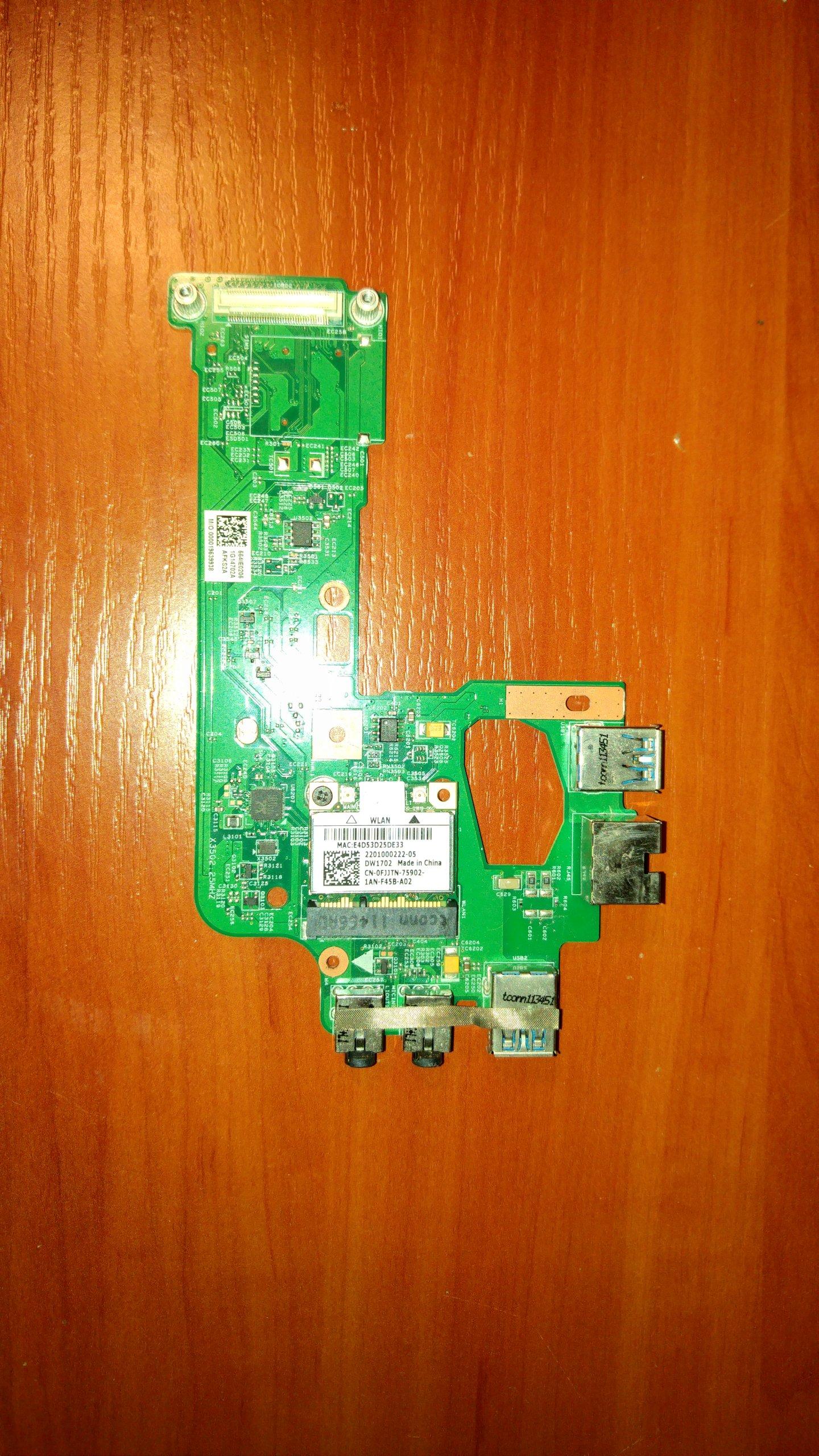Moduł LAN, audio, USB, karta WIFI Dell N5110 - 7342172633