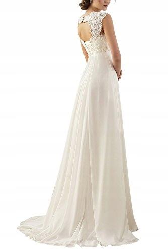 Suknia ślubna Erosebridal Szyfon Koronka 42 Xxl 7700178987
