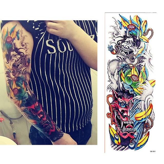 Tatuaż Zmywalny Rękaw Diabeł Pióra 7338942501 Oficjalne