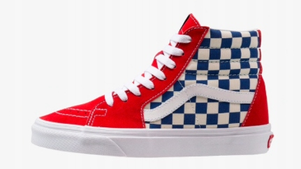Buty Vans SK8 HI czerwono niebieskie_roz 40 7636824367
