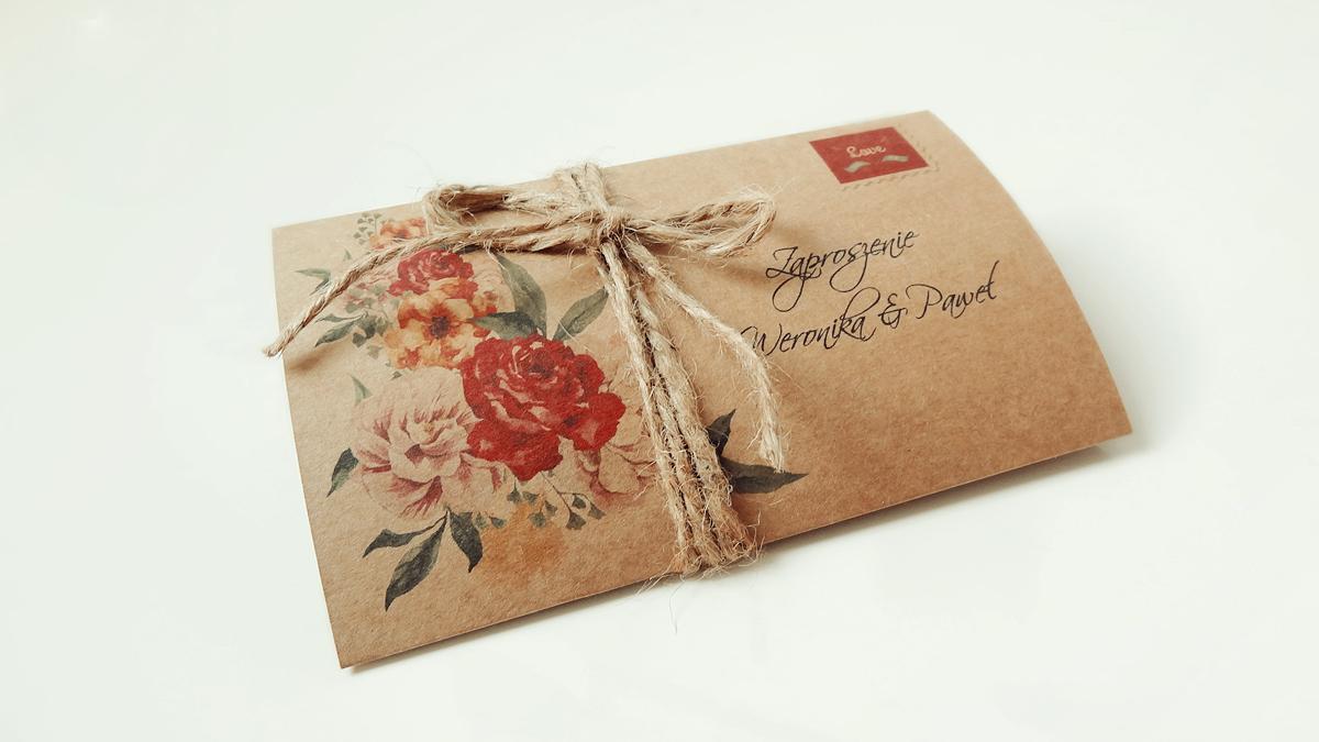Zaproszenia ślubne Eko Flower Eko 1zł Za 2szt 7222588920