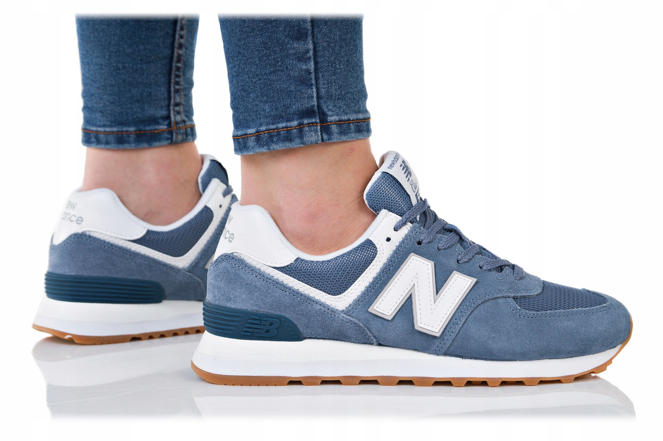 Granatowe buty damskie new balance 574 New Balance, kolekcja