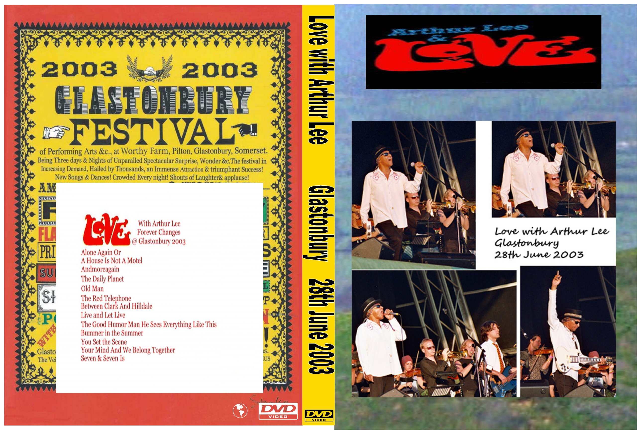 LOVE WITH ARTHUR LEE GLASTONBURY 2003 (1 DVD) - 7391983008
