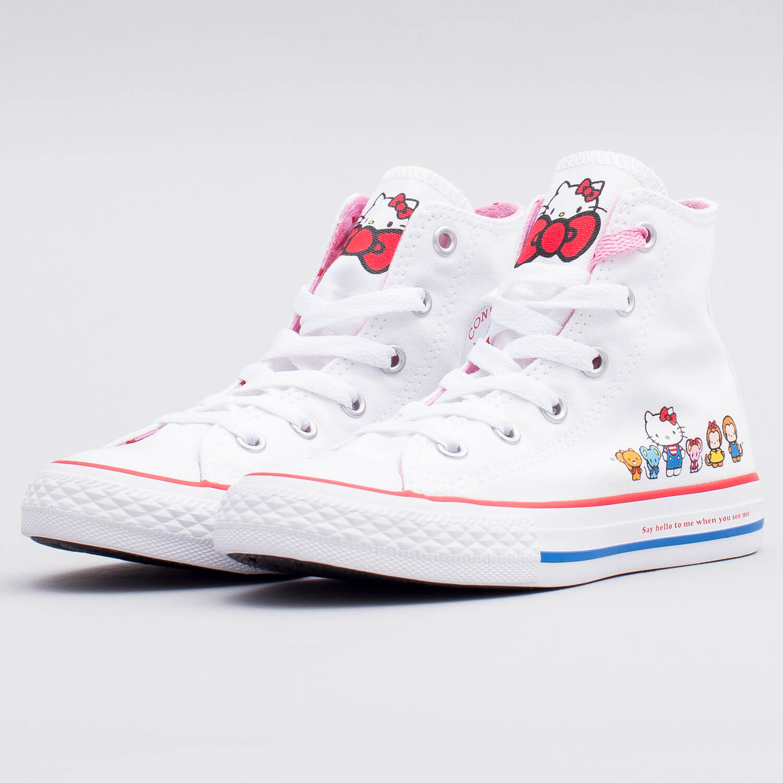 Buty Damskie Trampki Converse X Hello Kitty Chuck 70 Różowy