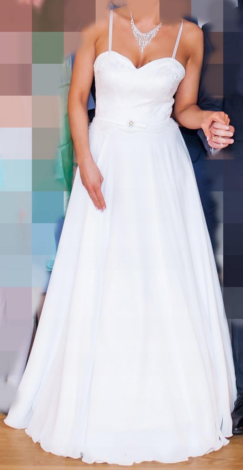 15ac3e350f ZWIEWNA LEKKA SUKNIA ŚLUBNA EMMI MARIAGE!!+ GRATIS - 7501051492 ...