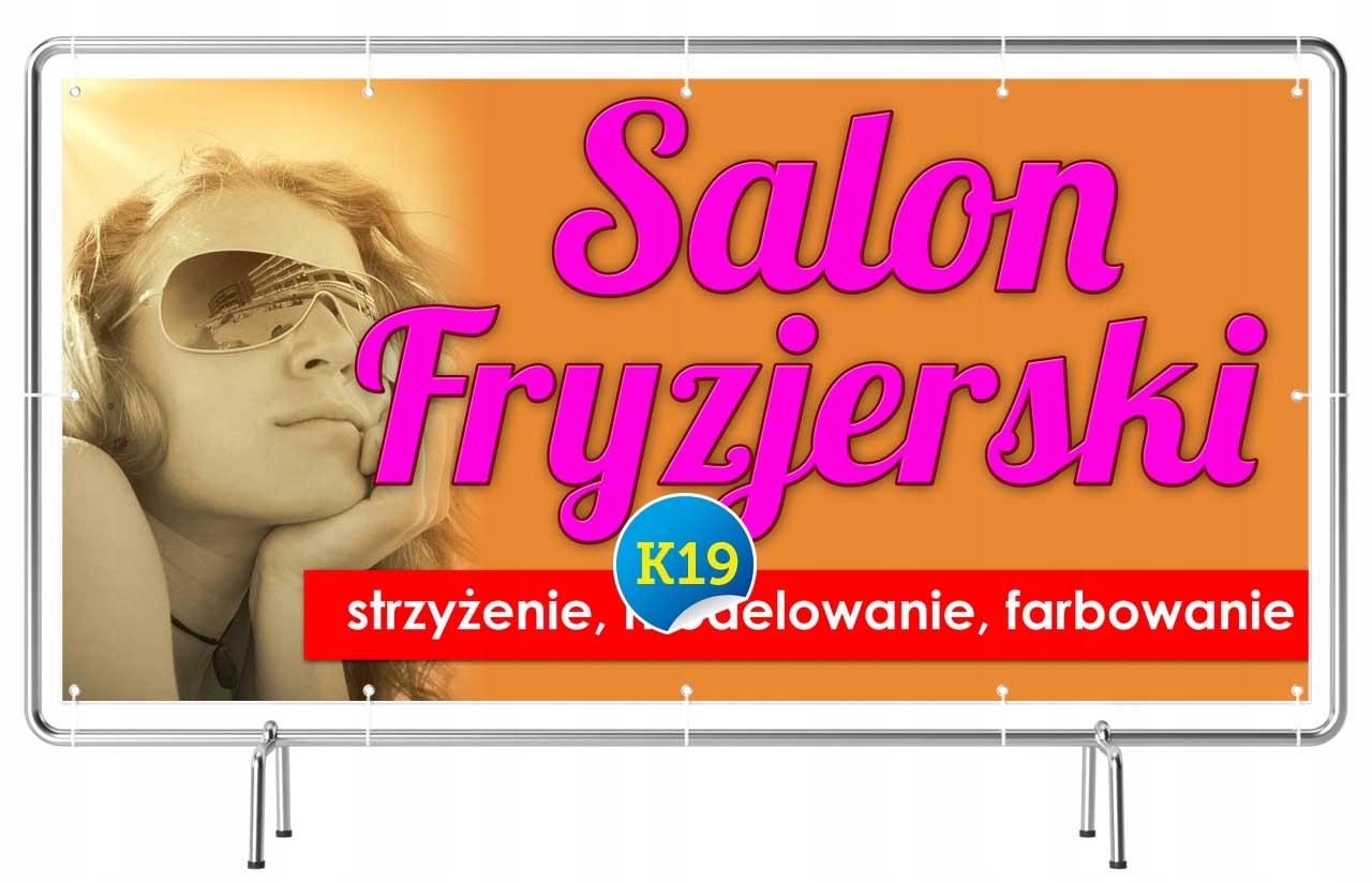 Hit Solidny Baner Reklama 2x1m Salon Fryzjerski 7016997876