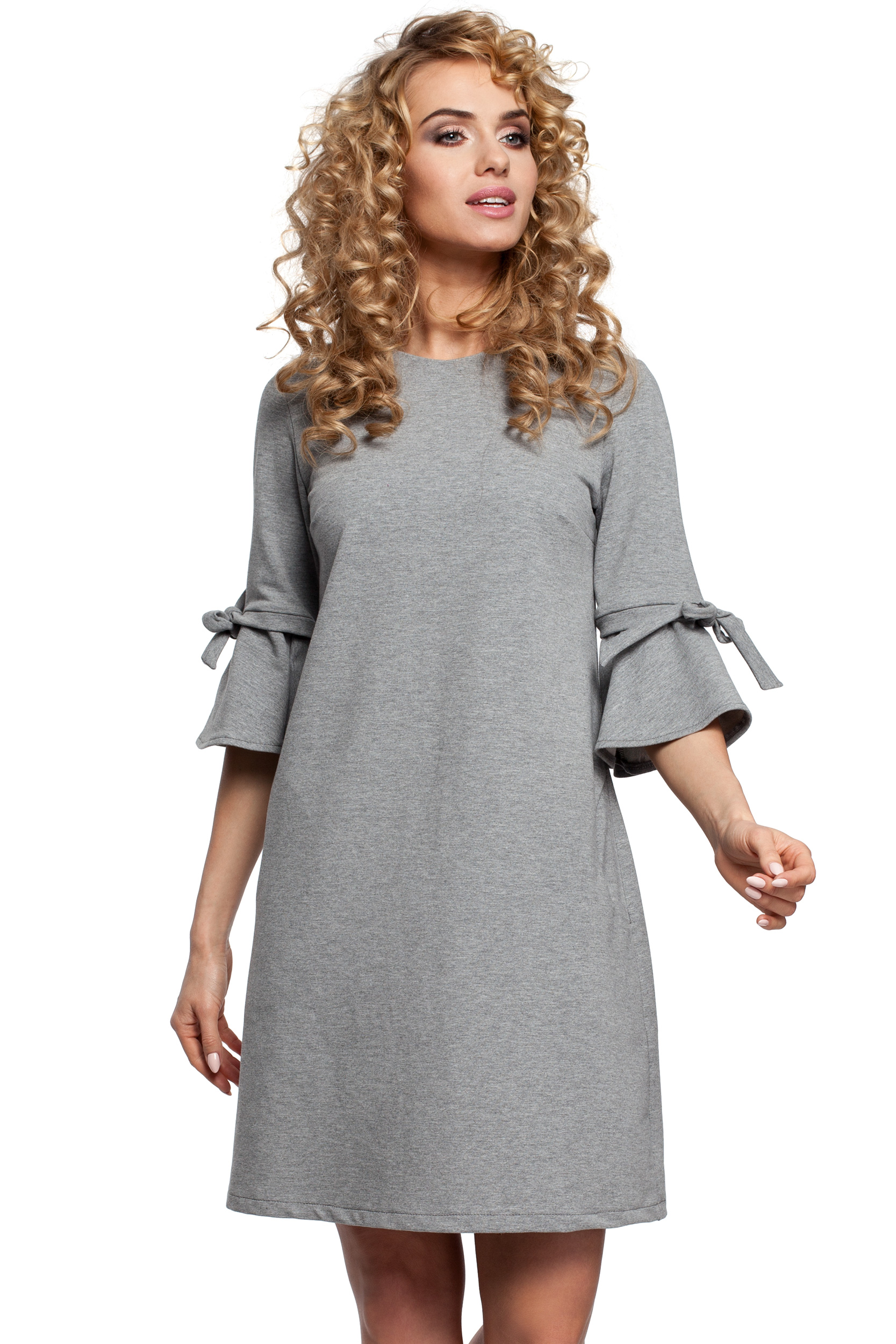 1c0c4ae944 MOE Trapezowa sukienka z falbanką na rękawach L 40 - 6822018233 ...