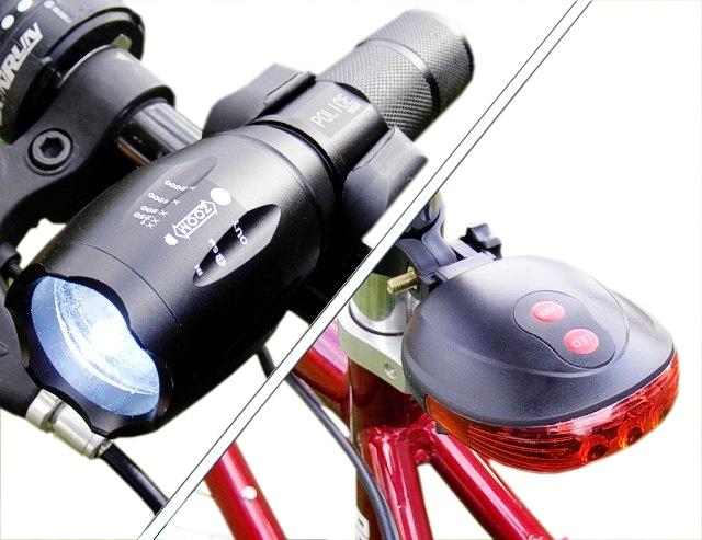 Oświetlenie Rowerowe T6 5000w Tylne Laserowe