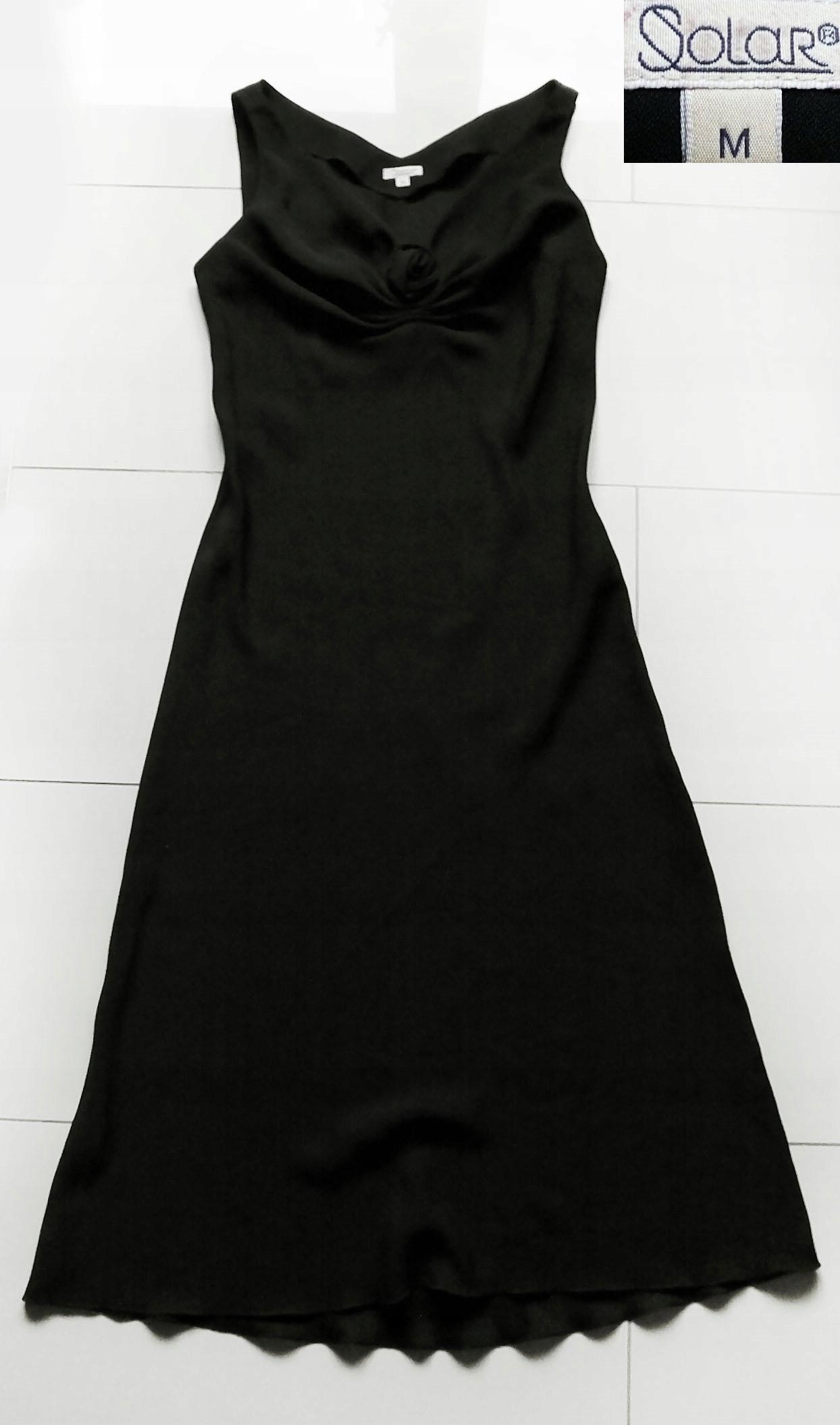 SOLAR cudna zwiewna sukienka cudne środpiersie r.M