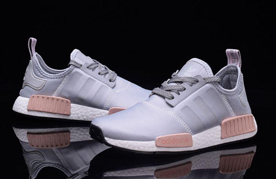 szczegółowy wygląd fabrycznie autentyczne wyglądają dobrze wyprzedaż buty Adidas NMD R1 runner buty szaro różowe *38
