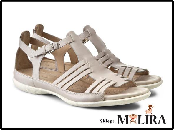 39db77a5dc9a7 ECCO FLASH sandały skórzane bezowe/szary r.42 - 7247302981 ...