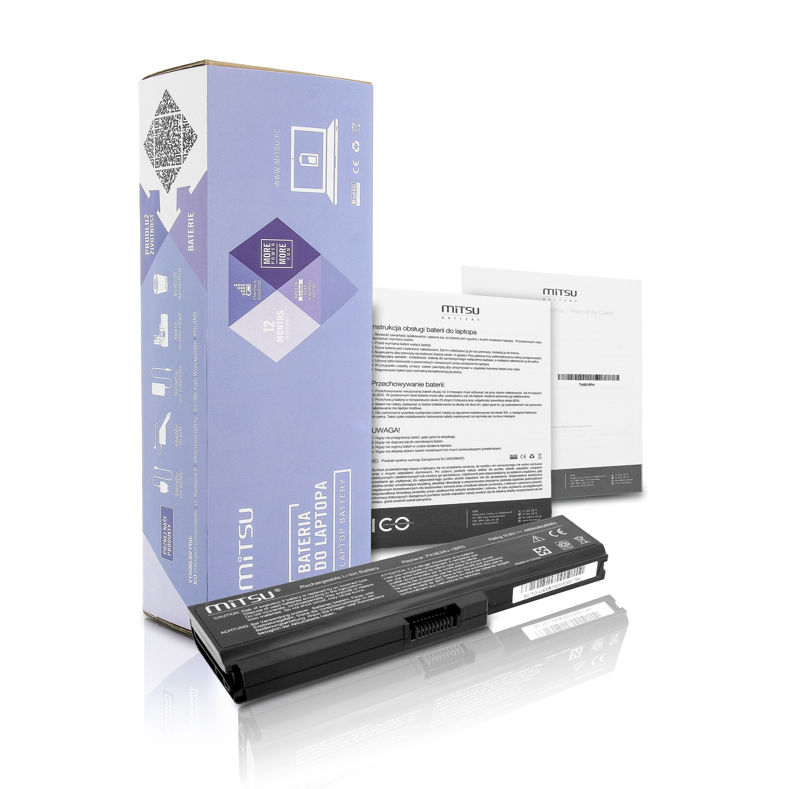Bateria Toshiba Satellite U400-S1001X,4400mAh,FV