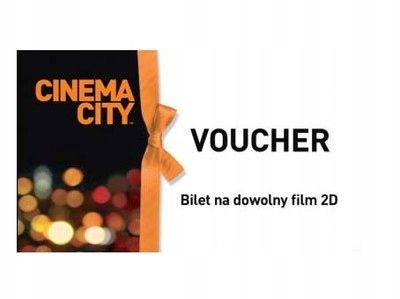 Cinema City - voucher kod bilet 2D