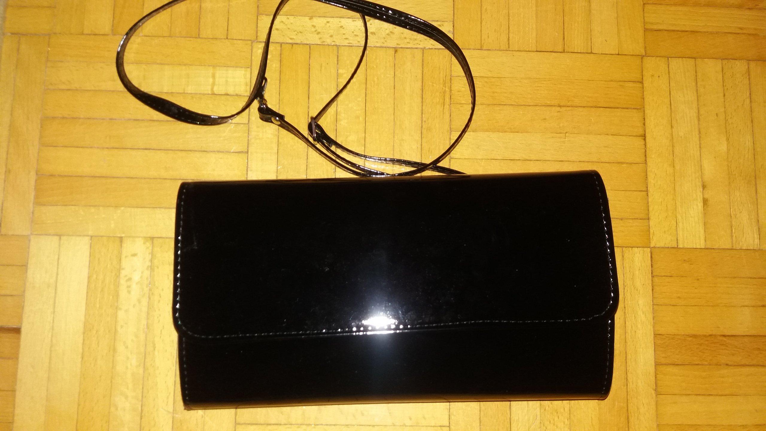 6d0a0f4af81a9 czarna torebka lakierowana kopertówka - 7222560700 - oficjalne ...