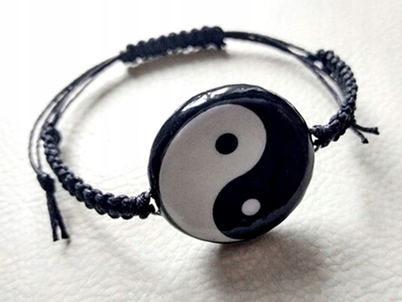 Bransoletka Symbol Znak Równowagi Yin Yang Makrama 7532763409