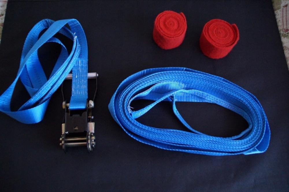 Taśma Slackline niebieska, 14m - zestaw , trening