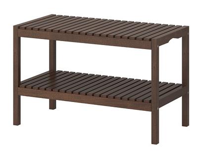 Drewniana ławka Do łazienki Brzoza 37x50x79 Cm 5078034471
