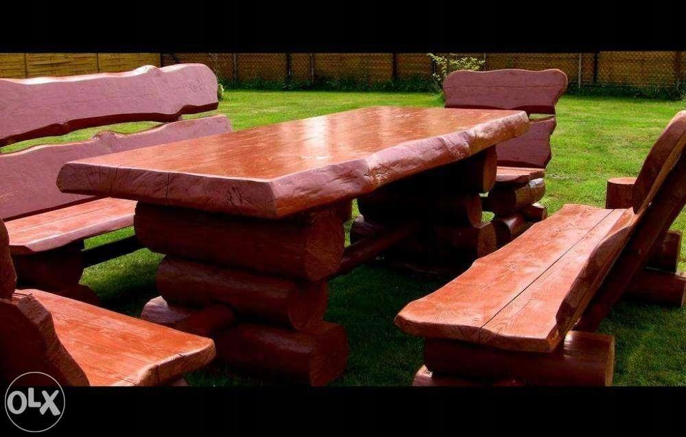 50 Masyw Meble Ogrodowe Drewniane Zestawy ławka 7556391088