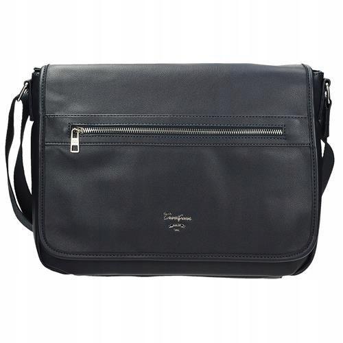 ae35a955d64b2 Granatowa męska torba na laptop na ramię DAVID JON - 7681551502 ...