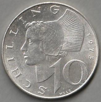 Austria / 10 szylingów / 1973 / srebro