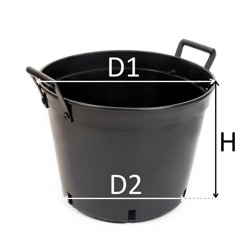 Doniczka Produkcyjna 65l Z Uchwytami 65 L Tanio 7528601354