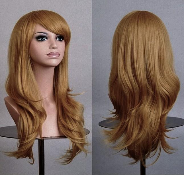 036 Długie Piekne Włosy Peruka Miodowy Blond 7352967700