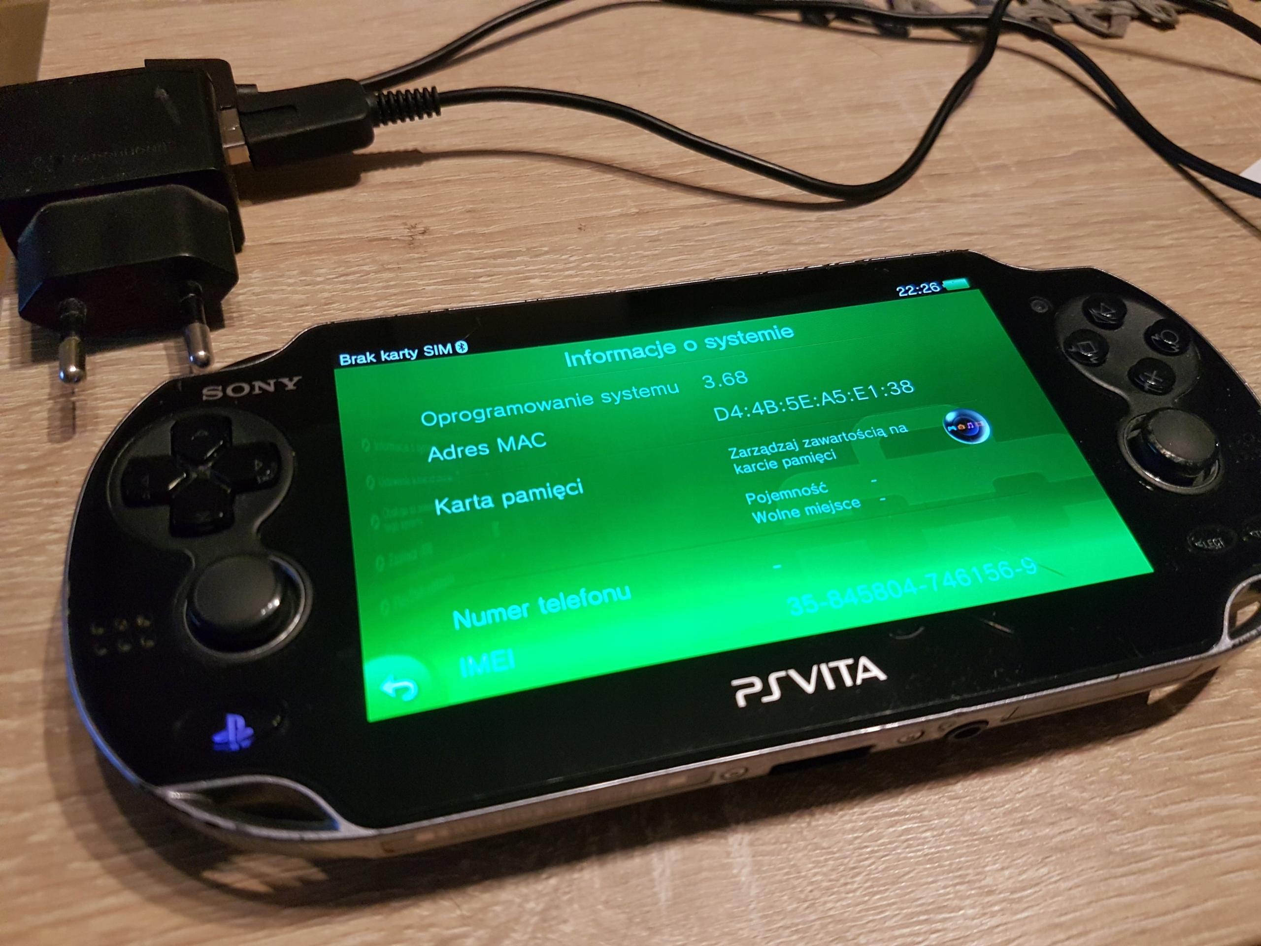 PS VITA 3.68 3G WIFI MODEL PCH 1103 UNIKAT HENKAKU
