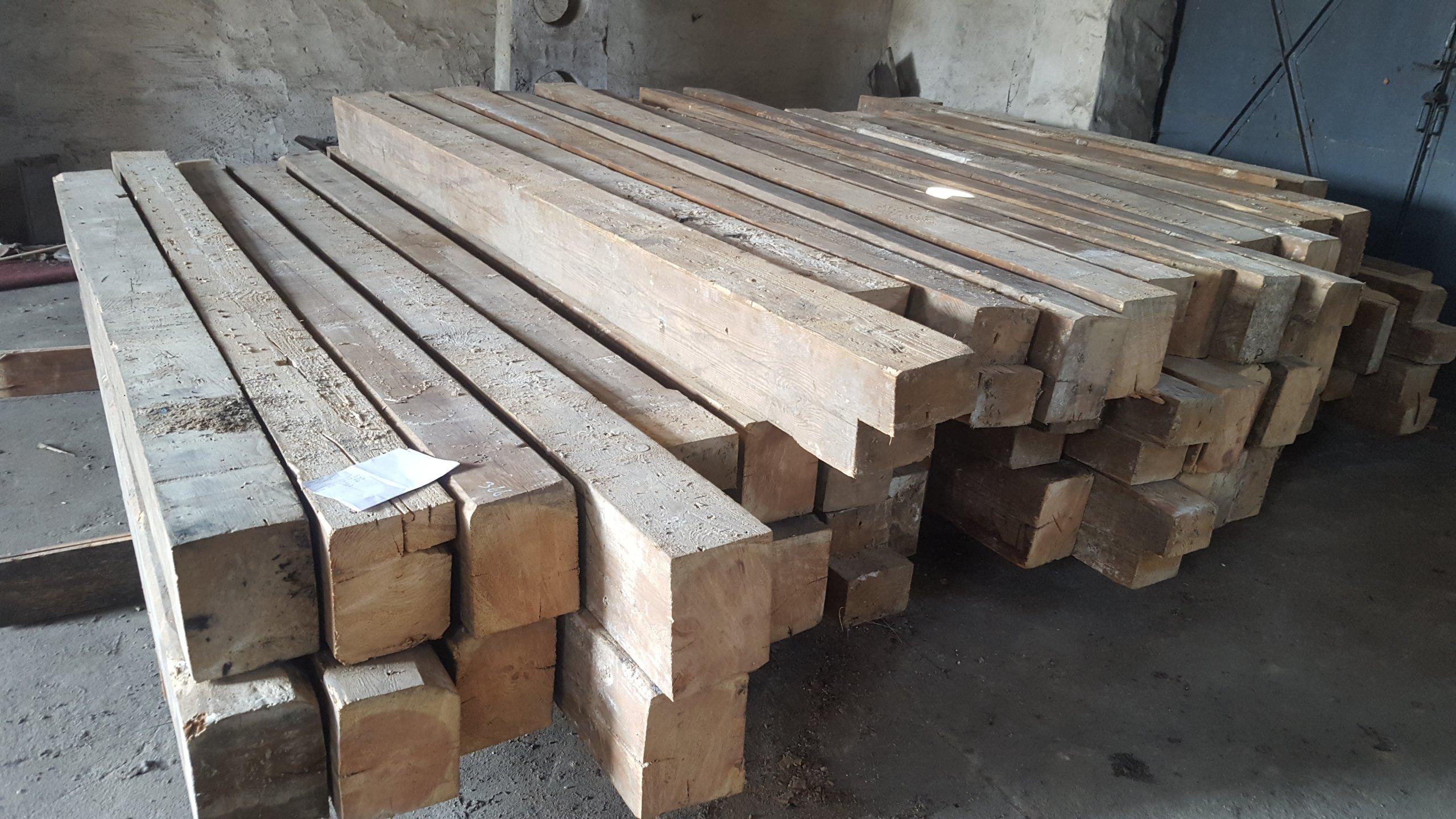 Stare Drewno Belki Drewniane Rozbiórka 990 Złm3