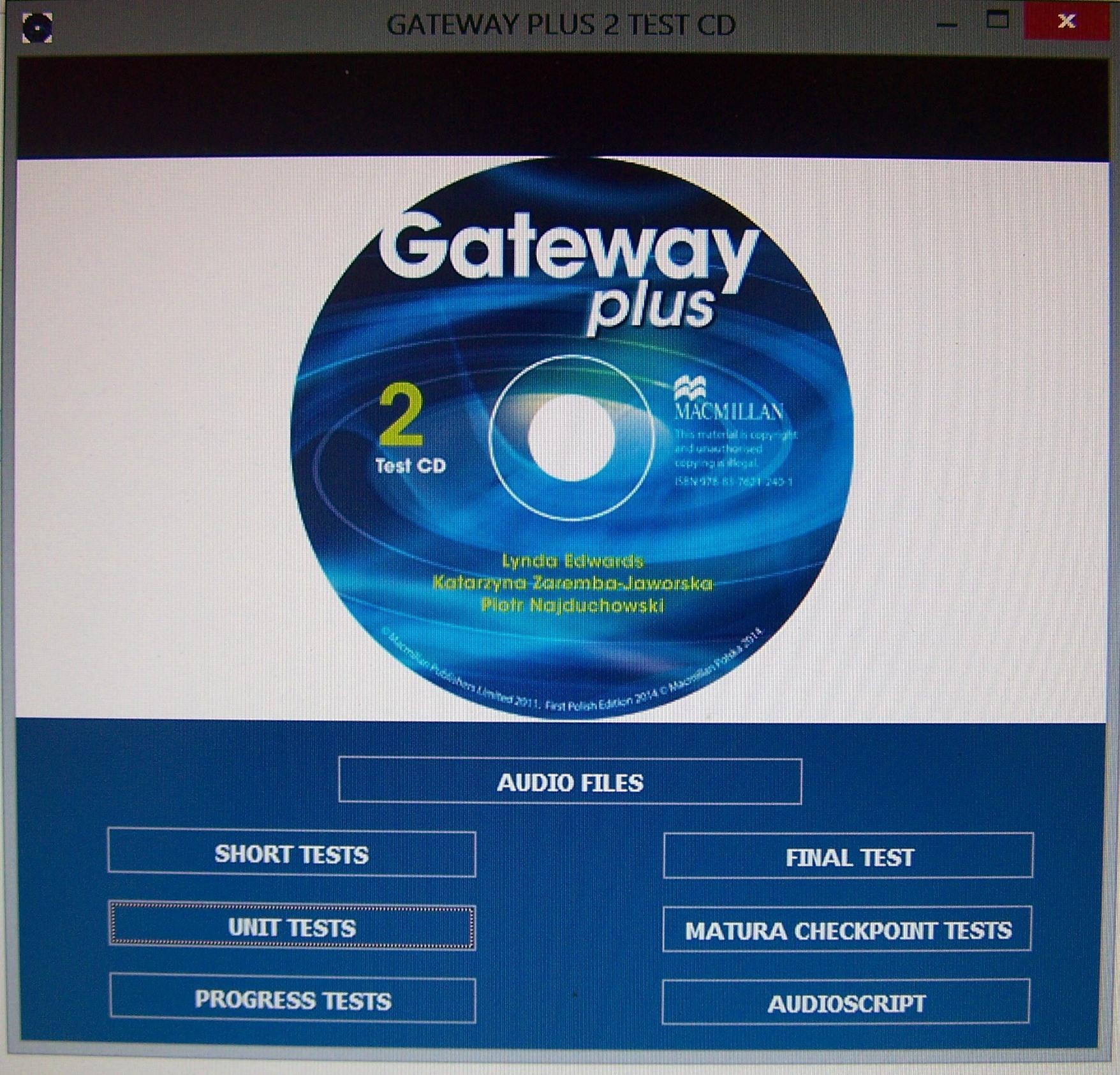 Bardzo dobry GATEWAY PLUS 2 KSIĄŻKA NAUCZYCIELA + CD TESTY - 7570013152 PC65