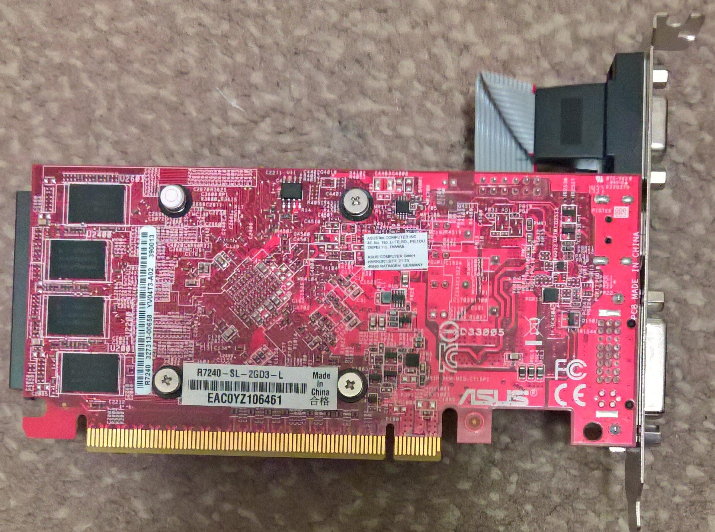 Asus Radeon R7 240 R7240 Sl 2gd3 L 7370730530 Oficjalne Vga His Ram 2 Gb Ddr5 128bit