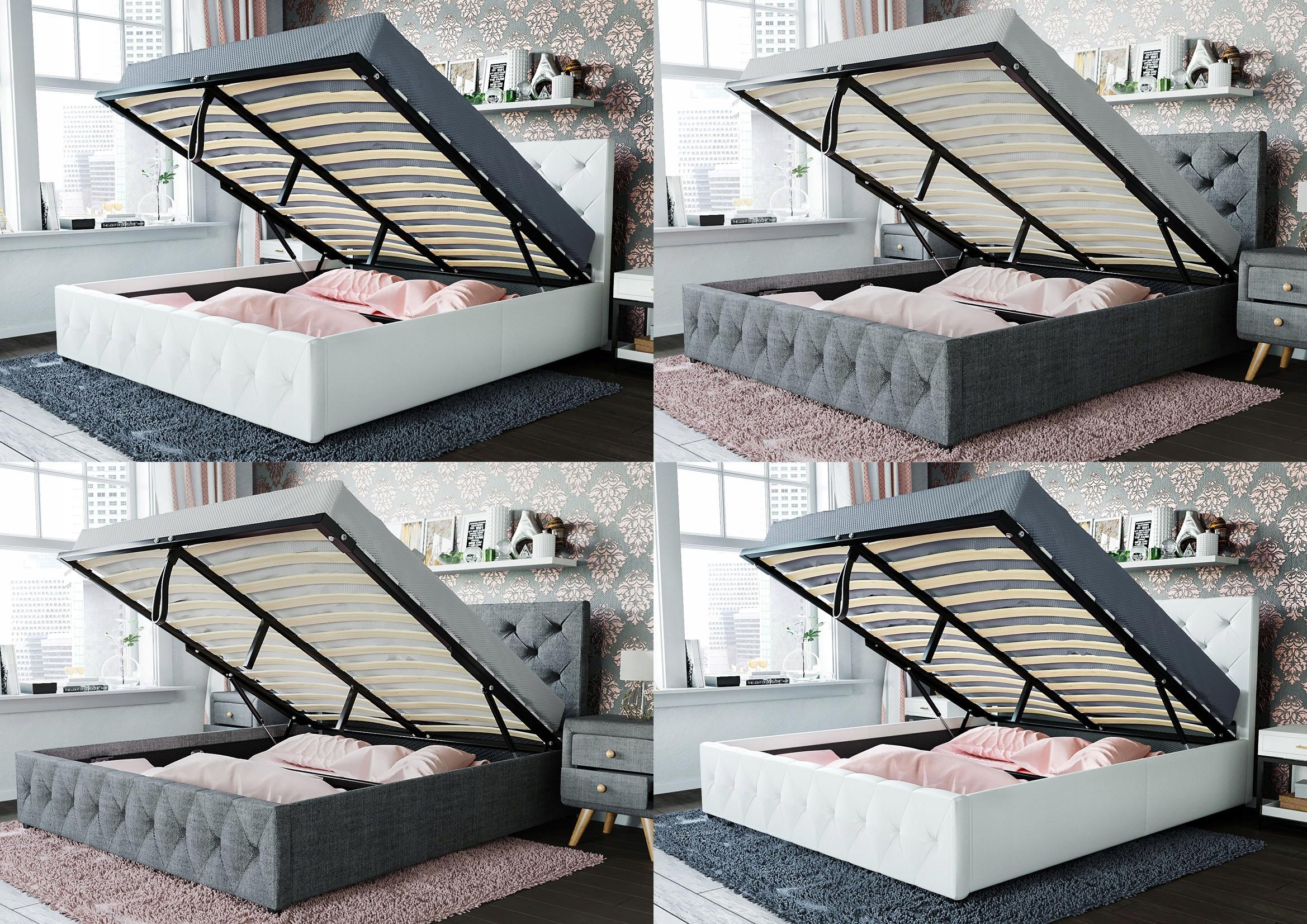 łóżko Tapicerowane Do Sypialni Roxana 140x200 7673180614