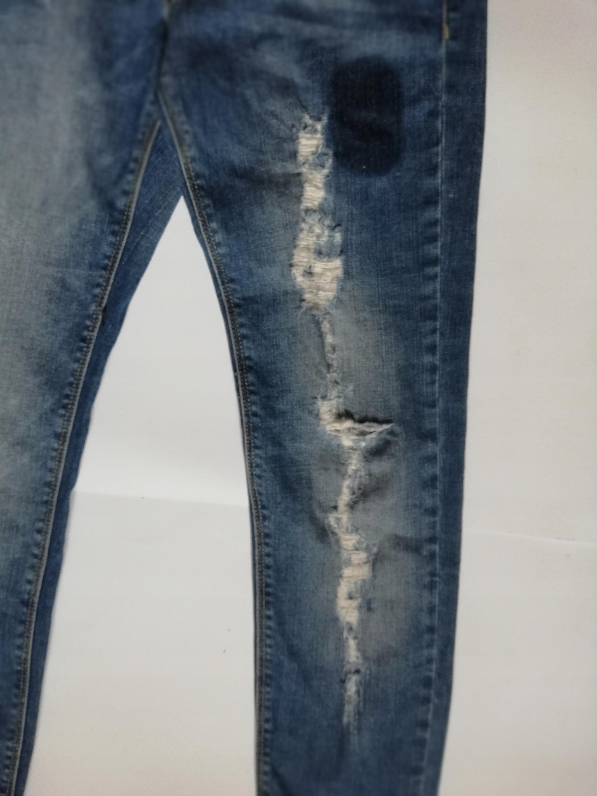 ZARA GIRLS 152cm jeansy, dziury, przetarcia KA2100