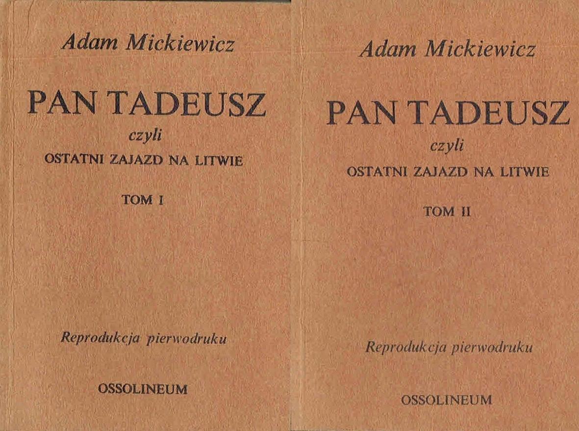 Mickiewicz Pan Tadeusz T 1 2 Reprodukcja 7539193143