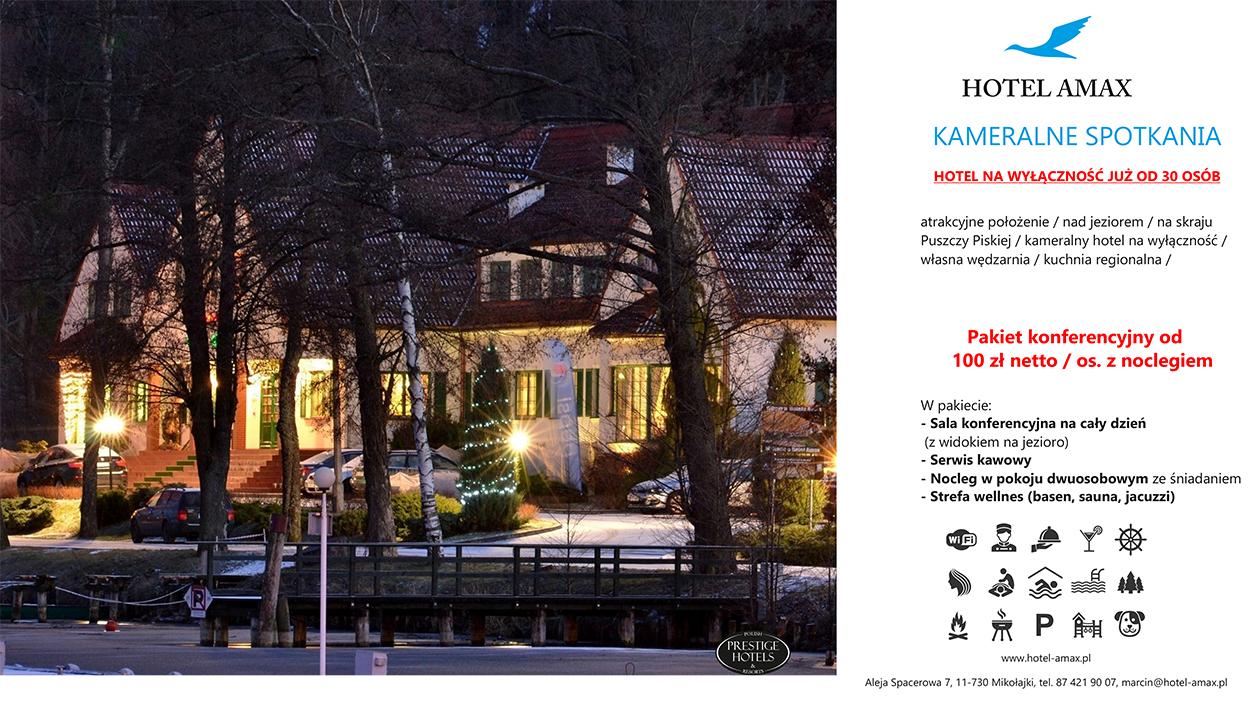 Pakiet konferencyjny-hotel na wyłączność Mikołajki