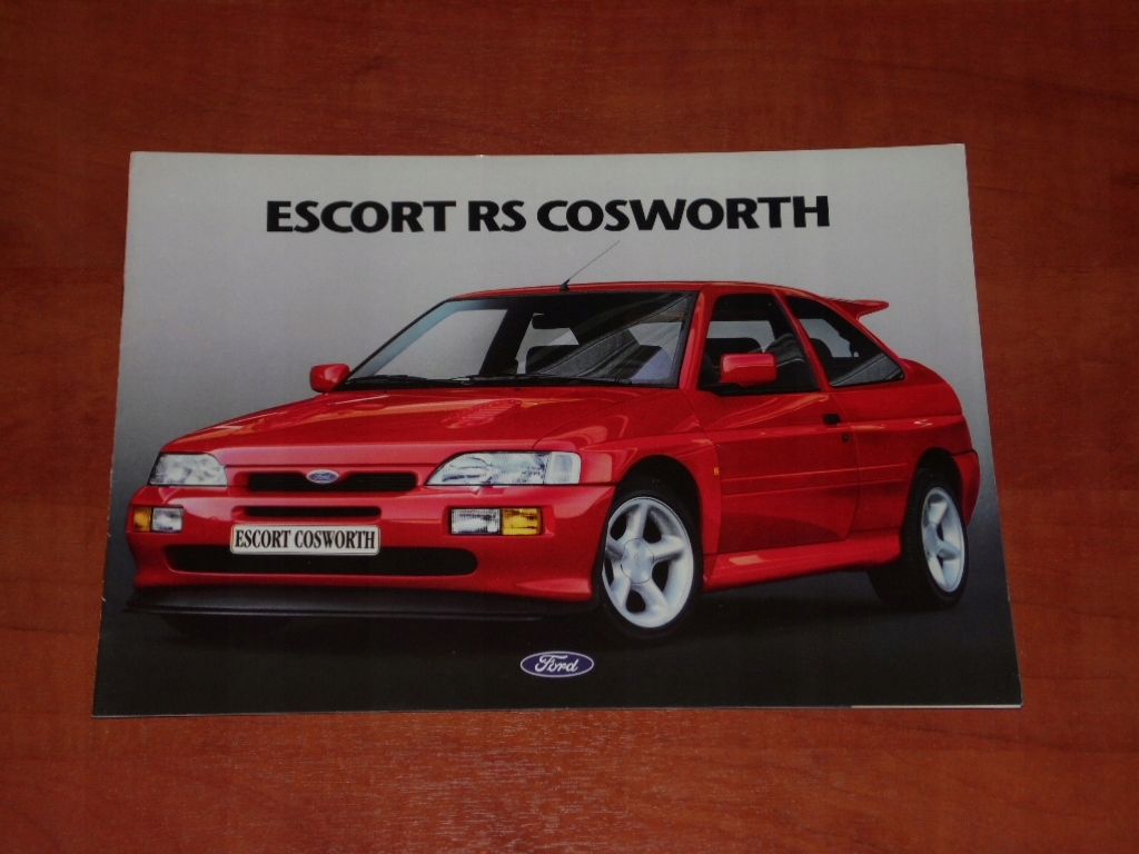 Prospekt Ford Escort RS Cosworth - Rok 1992