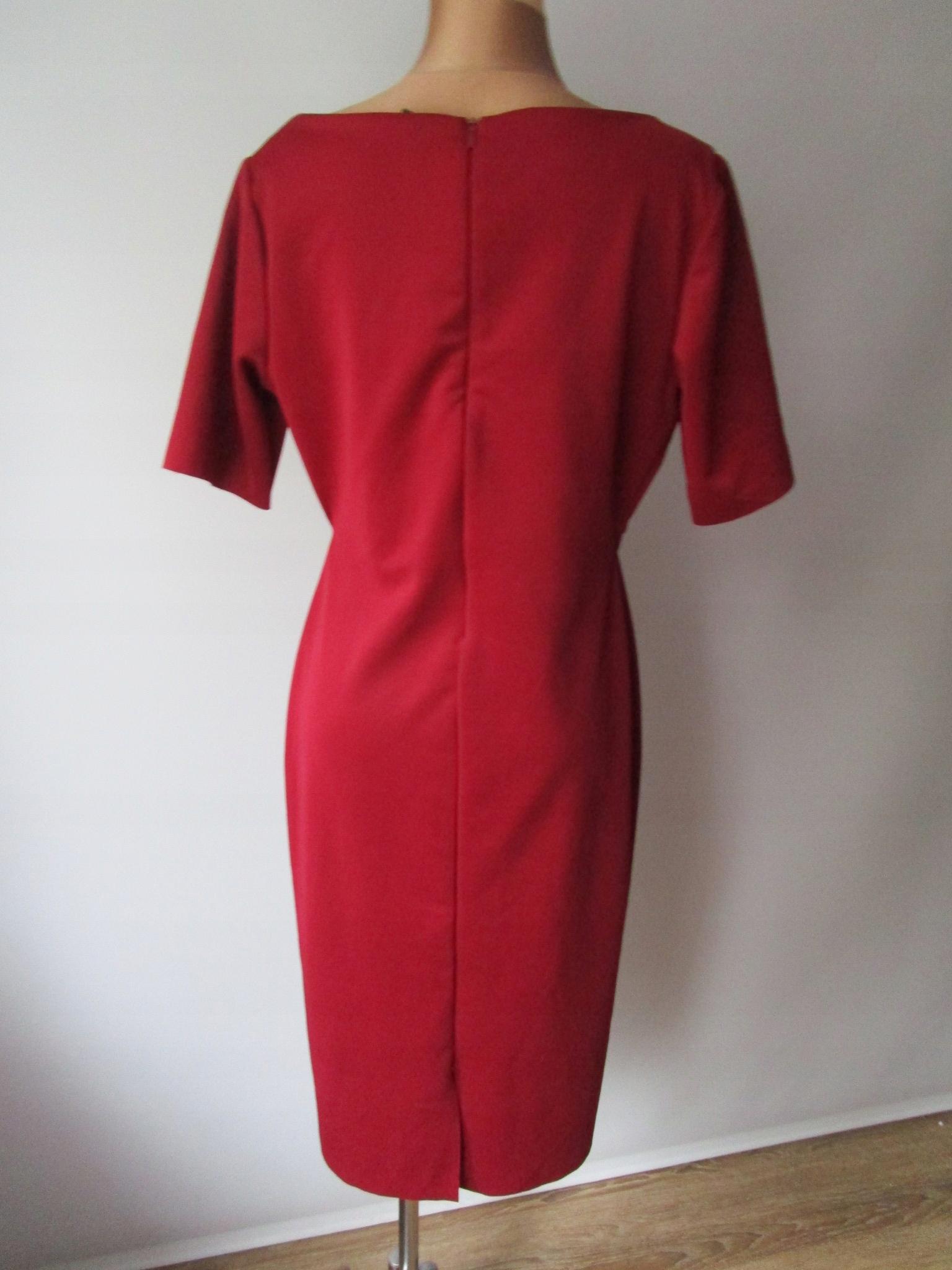 08a4ca0bcf 40 42 Sukienka H M elastyczna bordowa - 3 - 7674039143 - oficjalne ...