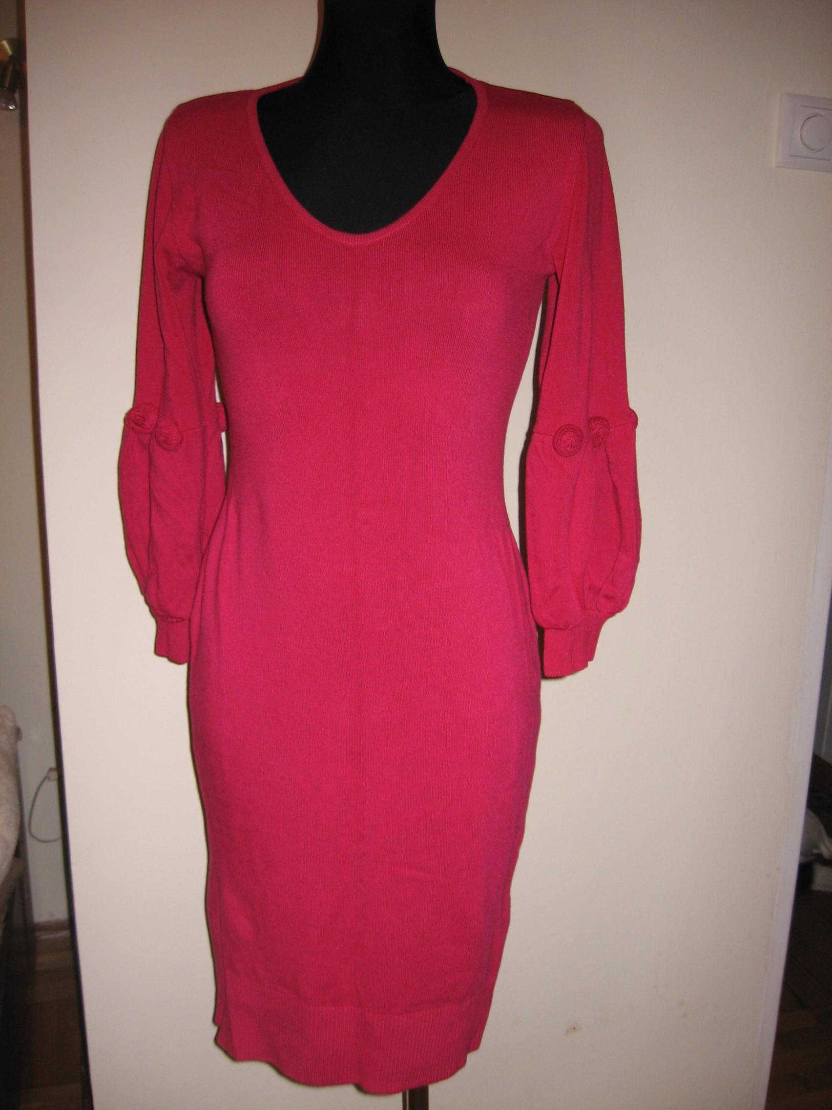 b65ecffc1c Różowa sukienka BPC bufki różyczki r.36 (M-XL) - 7095769751 ...