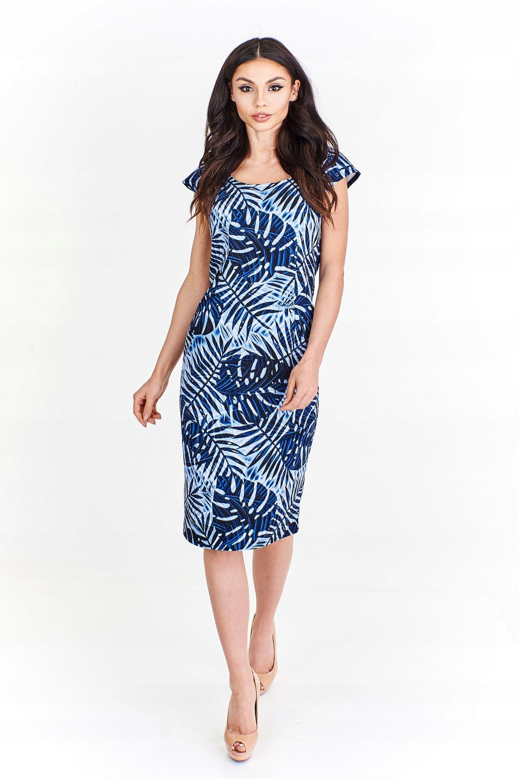 73f8b4b3 Wzorzysta sukienka ołówkowa Multikolor 46 - 7440360329 - oficjalne ...