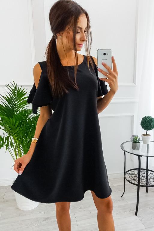b0abd8ed8f35 CZARNA sukienka z ROZCIĘCIEM na SYLWESTRA Vubu XL - 7089052782 ...