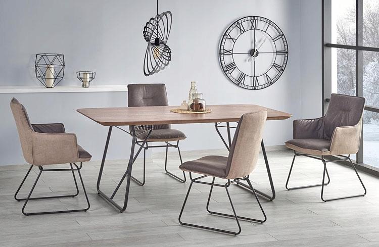 Szare krzesła kuchenne w industrialnym stylu Viler