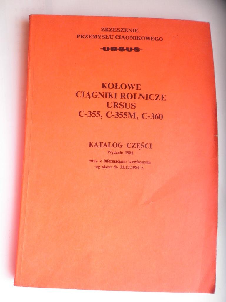 * KOŁOWE CIĄGNIKI ROLNICZE URSUS C -355  KATALOG