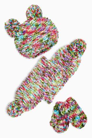 NEXT komplet 3cz czapka szal rękawiczki 1-2l