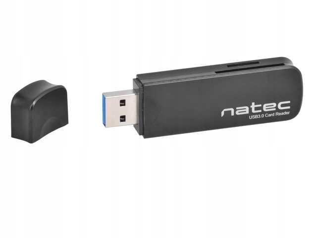 Czytnik kart NATEC Mini Scarab II USB 3.0 Czarny