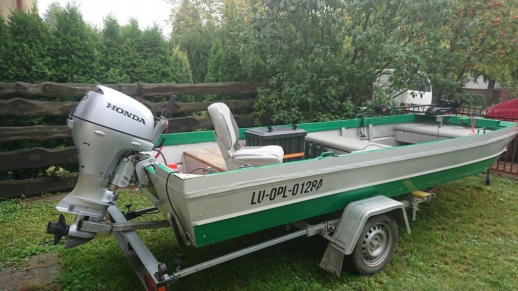 Łódka aluminiowa zestaw idealny na Wisłę