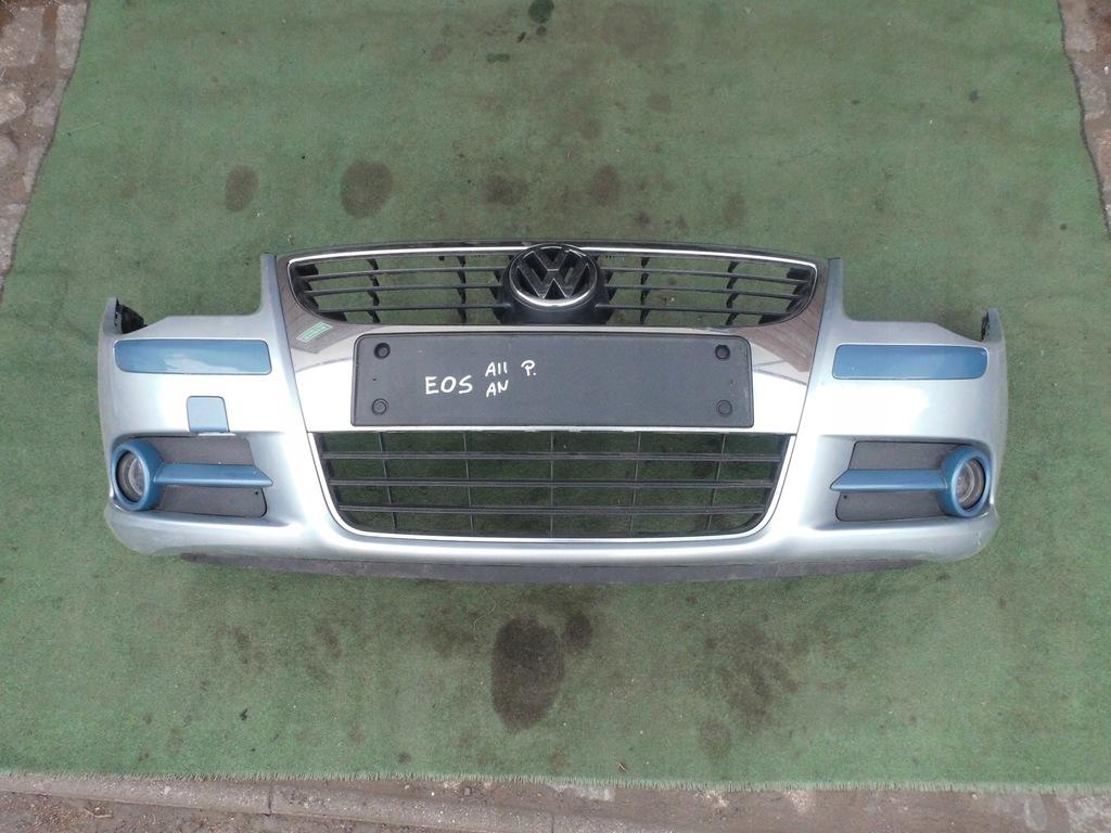 ZDERZAK PRZEDNI GRILL HALOGENY VW EOS 1Q SREBRNY