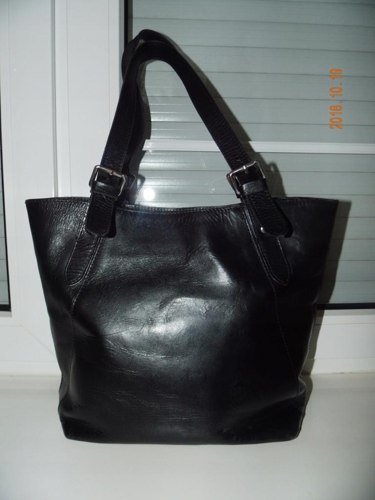 GENUINE LEATHER włoska torebka A4, skóra naturaln