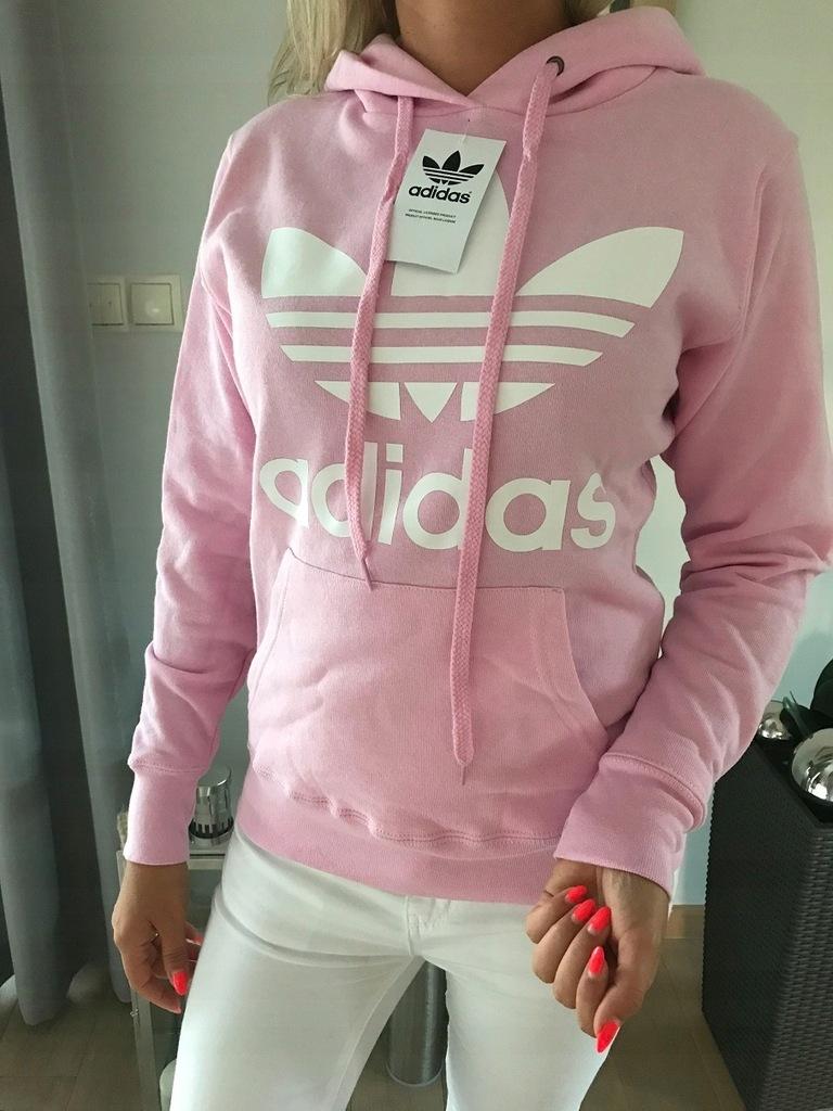 Adidas Bluza Sportowa Damska Rozowa Z Kapturem S 7575533651 Oficjalne Archiwum Allegro